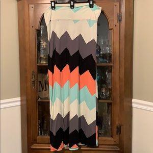 Rue 21 XL Multi-color Maxi Skirt